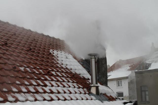 Evaporation, view from the roof. Indeed, Cantillon is brewing. Can you smell the hoppy wort?